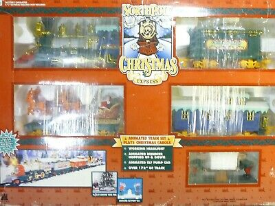 "North Pole Christmas Express Holiday Train Set ""O"" Scale w/ Animated Trains"