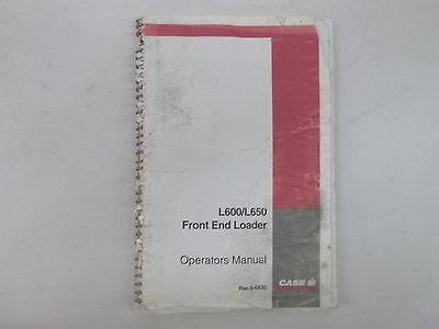 Case International Front End Loader Models L600 L650 Operators Manual