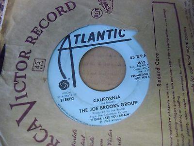 "Joe Brooks Group California 7"" 45 rpm Atlantic promo VG+"