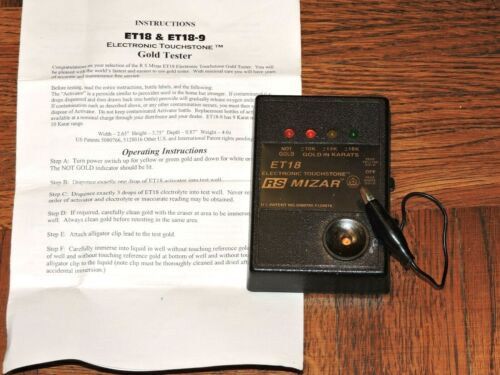 RS Mizar ET18 Electronic Gold Tester UNTESTED Free Shipping