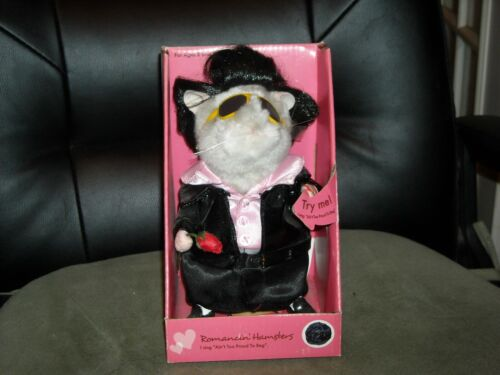vintage Elvis singing romancin hamster I aint to proud to beg never out of box