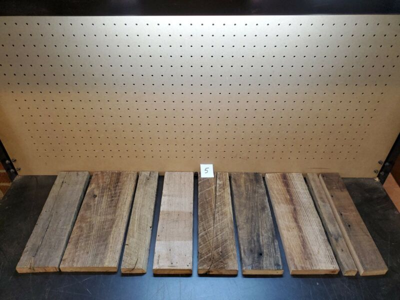 """9  pc RECLAIMED CHESTNUT BARN LUMBER WOOD 7/8"""" THICK CRAFTING FREE SHIP"""