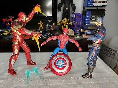 Marvel Legends Civil War 3 Pack Spiderman, Captain America, Iron Man! Loose MCU