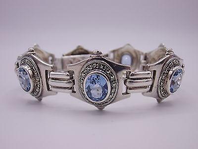 wunderschönes Markasiten  Armband Sterling Silber 925 punziert Art Deco Dekor