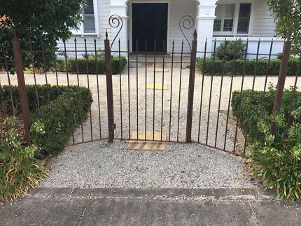 Original iron fence