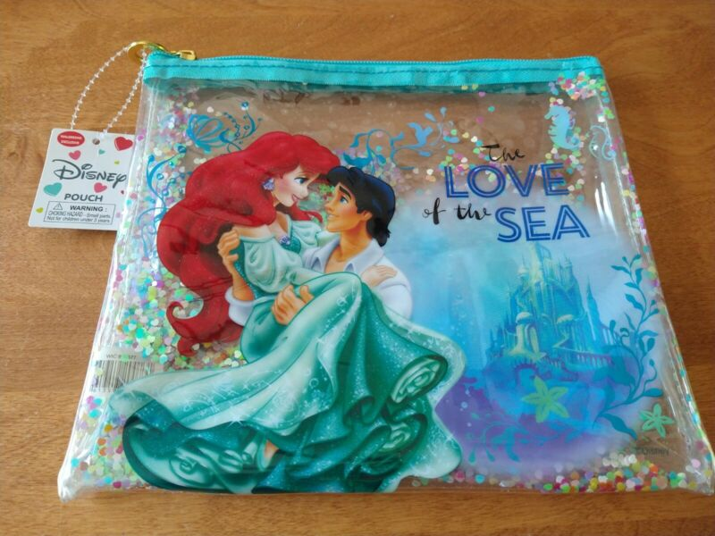 Disney Ariel -The Little Mermaid- Pouch Bag- The Love of the Sea- Exclusive NWT