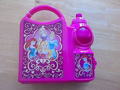 princesses childrens lunch box with sports bottle