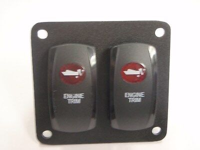 ENGINE TRIM SWITCH PANEL PSC21 BLACK RED LENS V8D1A60B LIGHTED AND