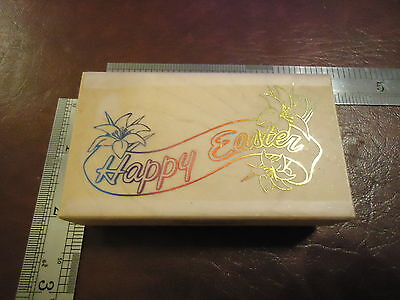 HAPPY EASTER BANNER RUBBER STAMP QUOTE SAYINGS EASTER SUNDAY (Happy Easter Sayings)