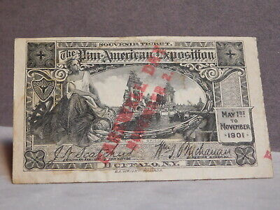 1901 Pan-Anerican Exposition Farewell Day Ticket