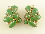 Vintage Glass Clip Earrings