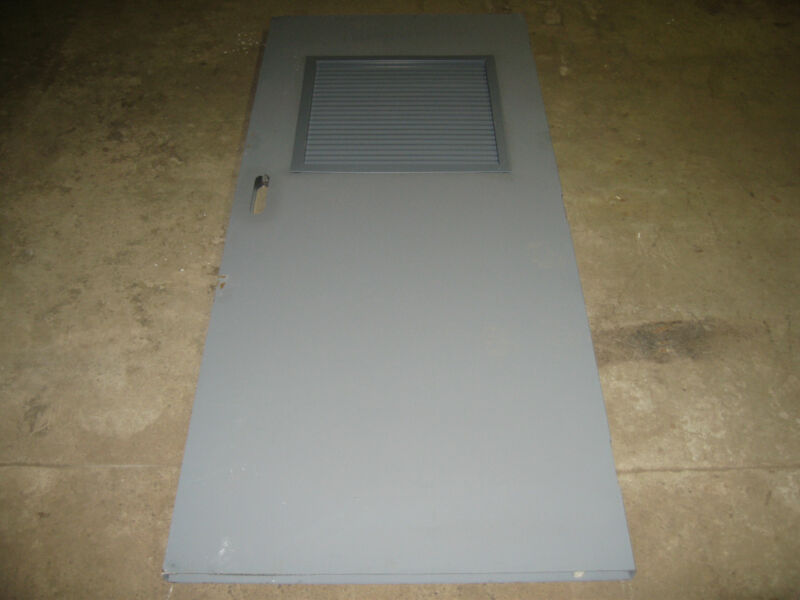 Steel Door with Louvers