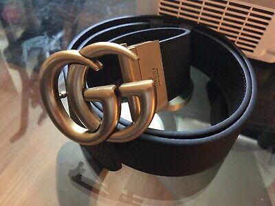 Authentic Gucci Double GG Reversible Belt Size 90cm 30-32 Waist