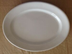 """Very Large Antique White Ironstone Oval Platter England 21 3/4"""""""
