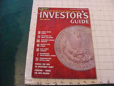 original magazine: INVESTOR'S GUIDE 1964 edition, 128 pgs, V CLEAN interesting