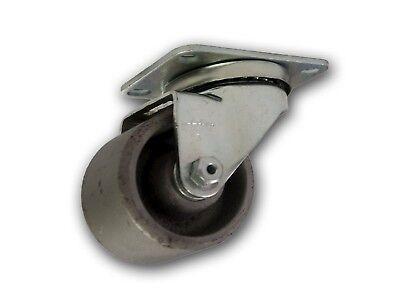 3 Albion Swivel Steel Caster W Cast Iron Wheel Top Plate