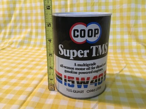 Vintage OIL CAN COIN BANK 15-40w COOP