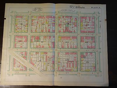 1892 Map of NW DC - Foggy Bottom Area-Rare large property specific detail.