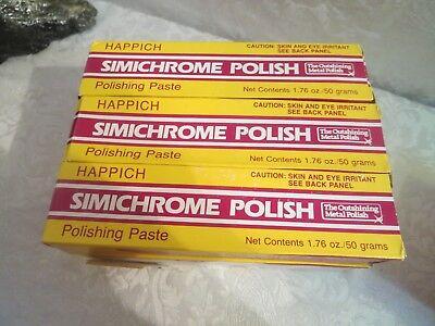 6 SIMICHROME Metal Polish Tubes AUCTION 1.76oz(50ml) Bakelite Test