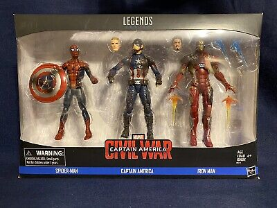 AVENGERS CIVIL WAR Spider-Man, Captain America & Iron Man 3-Pack Marvel Legends