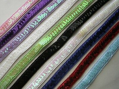 Stretch Sequin Trim, 3/4 In Wide, Assorted Colors, 2 YARDS, Costumes, Headbands