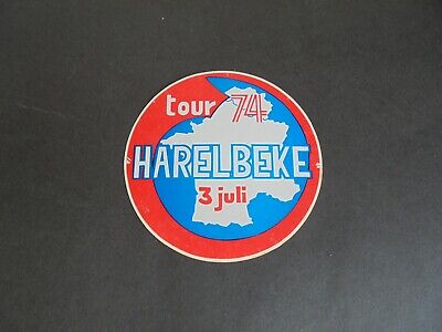 Sticker autocollant : Tour de France 74 - Harelbeke - 3 juli 1974