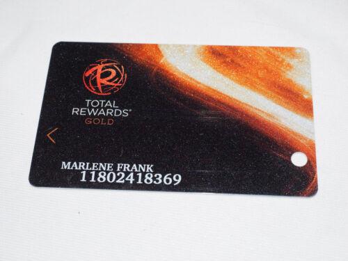 TOTAL REWARDS Las Vegas Casino Players Club Card Marlene Frank
