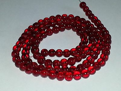 New Dark Red Crackle Glass 8MM Beads 105pcs Loose Round Spacer Free Shipping 8MM