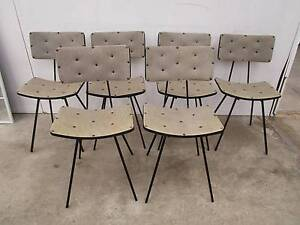 C48002 Set 6 Funky Vintage RETRO Atomic Kitchen Dining Chairs Unley Unley Area Preview