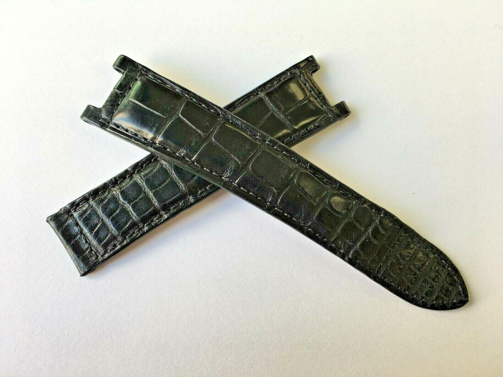 Cartier Pasha Uhrenarmband Alligator Matt Schwarz 20/18 mm