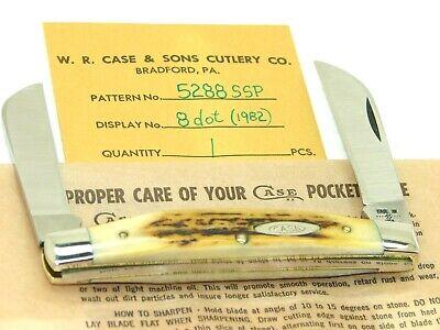 CASE XX USA,1982, 5288 CONGRESS KNIFE ,CASE ENVELOPE & WRAP, SUPER STAG, MINT