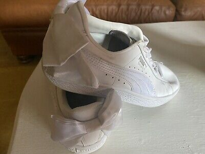 White Puma Bow Trainers - Size 3