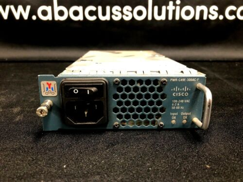 Cisco Ws-c4948e-f Switch Power Supply Pwr-c49e-300ac-f Fully Tested