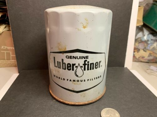Vintage Oil Filter Advertising Bank, Luber-Finer, Auto Oil Advertisng