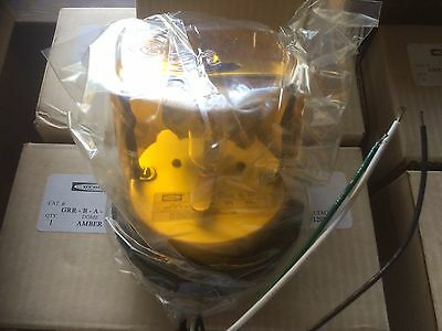 Hubbell Rotating Beacon Light 120v Amber Lens Grr-b-a-a1 New Nos