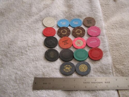 Lot of 18 Casino Chips