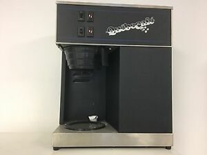 Commercial coffee maker dual burner