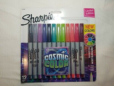 Sharpie Ultra Fine Point Permanent Markers Cosmic Colors Limited Edition 12
