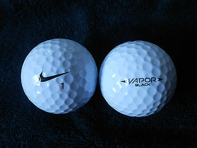 "20  NIKE ""VAPOR BLACK""  Golf Balls - ""PEARL/A"" Grades."