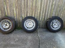 Trailer hubs and wheels + spare wheel Kensington Eastern Suburbs Preview