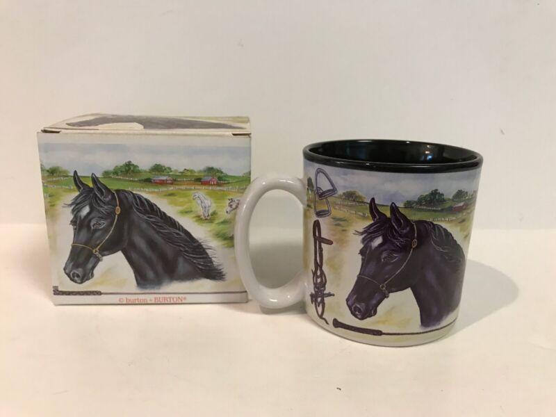 BURTON + BURTON HORSE COFFEE LATTE TEA MUG NEW IN BOX