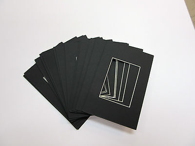 Picture Mat Backers 4x6 for small photo or ACEO black backin