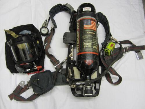 Interspiro SCBA 4500 HP Bottle 30 Min 2007, Pass Harness Medium Face Piece Mask