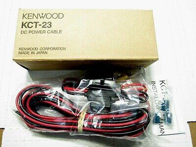 17 Kenwood Kct-23 Dc Power Cable Ham Radio Oem Nib Nos New