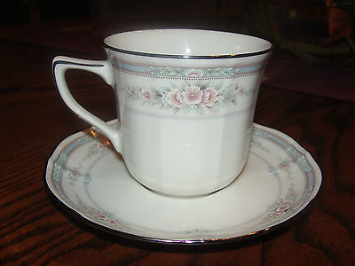 CUP AND SAUCER SET ROTHSCHILD PATTERN BY NORITAKE #7293