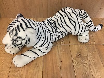 LARGE 65CM PREMIUM WHITE TIGER SOFT CUDDLY TOY PLUSH STUFFED TEDDY