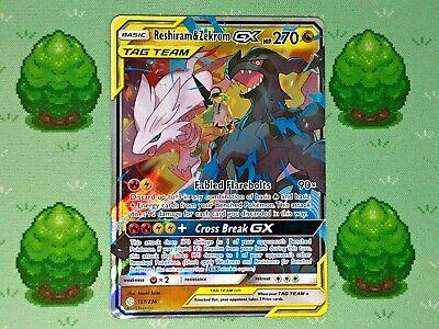 Pokemon - Reshiram & Zekrom GX - 157/236 - SM Cosmic Eclipse - Half Art