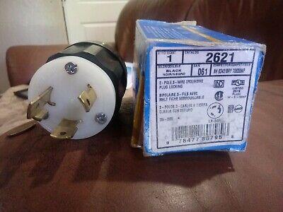 Leviton 061-2621 30 Amp 3w 2p Nema L6-30p Locking Plug