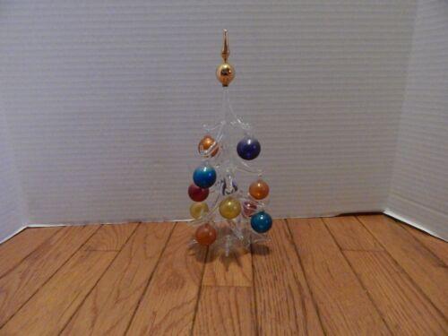 Vintage Parise Vetro Art Glass Tree with Ornaments