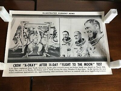 Illustrated Current News - 14 Day Flight to Moon Test Apollo Erman Abell Moyles